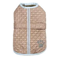 Zack and Zoey Quilted Thermal Nor'Easter Dog Coat - Almond
