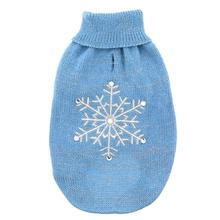 Zack and Zoey Shimmer Nights Snowflake Dog Sweater - Blue