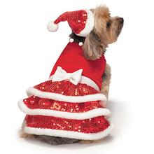 Zack and Zoey Sparkle Sequin Velvet Holiday Dog Dress