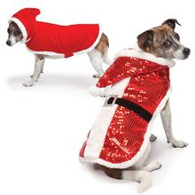 Zack and Zoey Sparkle Sequin Velvet Santa Dog Coat