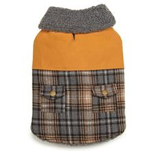 Zack and Zoey ThermaPet Plaid Duck Dog Coat - Brown