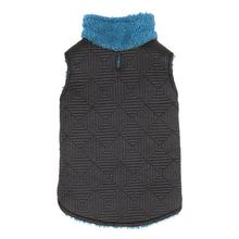 Zack and Zoey ThermaPet Quilted Dog Vest - Black with Blue