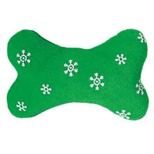 Zanies Blizzard Bones Dog Toy - Green