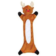 Zanies Festive Unstuffies Dog Toy - Reindeer
