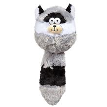Zanies Funny Furry Fatties Dog Toy - Raccoon