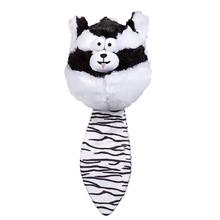 Zanies Funny Furry Fatties Dog Toy -  Skunk