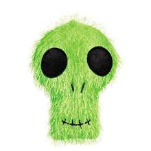 Zanies Halloween Fuzzies Dog Toy - Skull