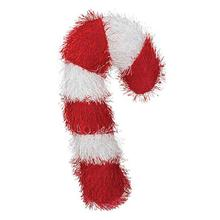 Zanies Holiday Fuzzles Dog Toy - Candy Cane