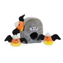 ZippyPaws Halloween Burrows Dog Toy - Spooky Gravestone