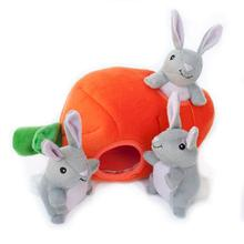 ZippyPaws Burrow Dog Toy - Bunny 'n Carrot