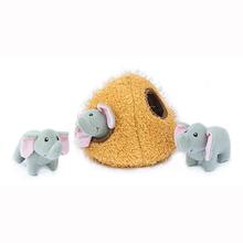 ZippyPaws Burrow Dog Toy - Elephant Cave