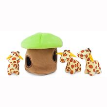 ZippyPaws Burrow Dog Toy - Giraffe Lodge