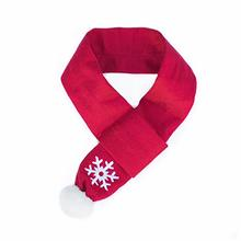 ZippyPaws Holiday Snowflake Dog Scarf - Red