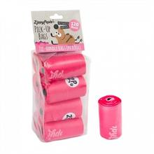 ZippyPaws Unscented Pick-Up Waste Bags - Pink